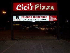 cici pizza sign