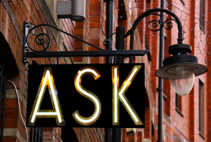 neon sign ask